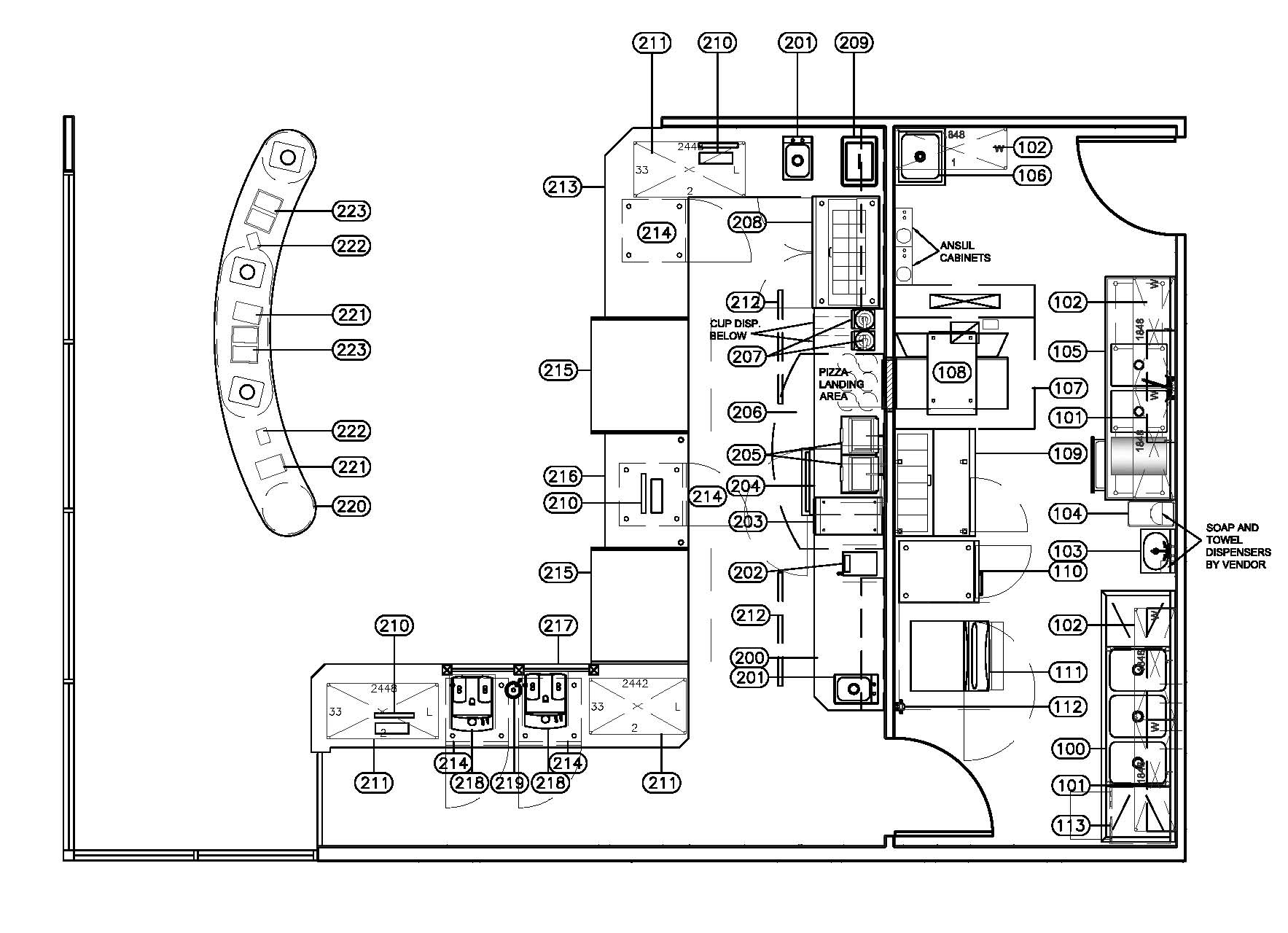 Commercial Kitchen Layout Drawings With Dimensions Afreakatheart
